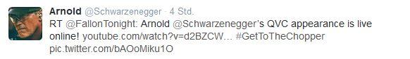 Tweet Arnold Schwarzenegger März 2014